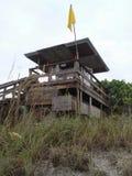 Cabaña del salvavidas Imagenes de archivo