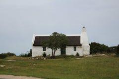 Cabaña del tejado de la paja Imagenes de archivo
