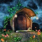Cabaña del tronco de árbol stock de ilustración