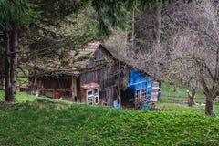 Cabaña en Beskids Imagen de archivo libre de regalías