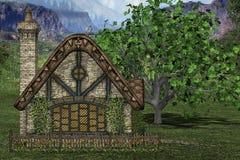 Cabaña en campo libre illustration