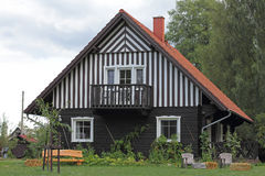 Cabaña en el Spreewald en Alemania Fotos de archivo
