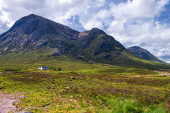 Cabaña en Glencoe Escocia Imagenes de archivo