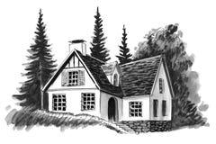 Cabaña hermosa ilustración del vector