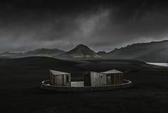 Cabaña moderna en Islandia Imagen de archivo libre de regalías