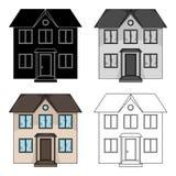 Cabaña privada Solo icono del agente inmobiliario en web del ejemplo de la acción del símbolo del vector del estilo de la histori Foto de archivo