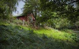 Cabaña roja Fotografía de archivo