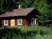 Cabaña roja Fotografía de archivo libre de regalías