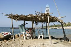 Cabaña tropical de la resaca Fotografía de archivo libre de regalías