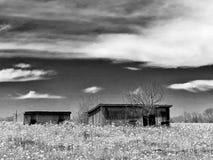 Cabañas abandonadas Fotografía de archivo libre de regalías