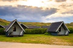 Cabañas danesas de las vacaciones Fotografía de archivo libre de regalías