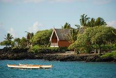 Cabañas de Hawaii en la isla grande Fotos de archivo libres de regalías
