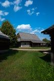 Cabañas de Kysuce - museo del pueblo eslovaco, je del ¡del hà de JahodnÃcke, Martin, Eslovaquia Imagen de archivo