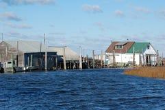 Cabañas de la pesca Imagen de archivo libre de regalías