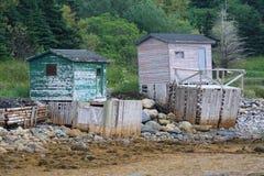 Cabañas de la pesca de la punta de Norris imagen de archivo libre de regalías