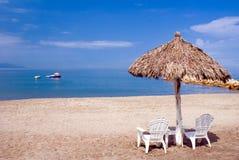 Cabañas de la playa Foto de archivo libre de regalías