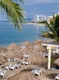 Cabañas de la playa Imagenes de archivo