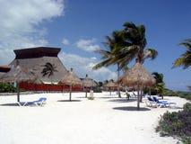 Cabañas de la playa Fotografía de archivo