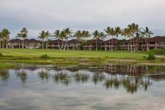 Cabañas de las vacaciones en Hawaii Foto de archivo libre de regalías
