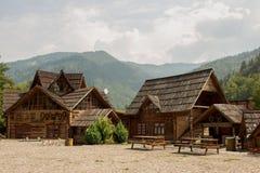 Cabañas de madera Imagen de archivo libre de regalías