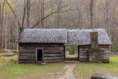 Cabañas de madera históricas viejas Imagen de archivo