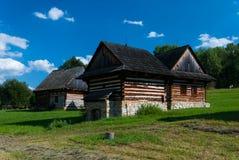Cabañas de Turiec - museo del pueblo eslovaco, je del ¡del hà de JahodnÃcke, Martin, Eslovaquia Imagen de archivo