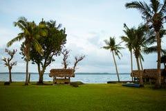 Cabañas del centro turístico en las Filipinas fotos de archivo libres de regalías