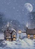 Cabañas del invierno Fotos de archivo