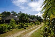 Cabañas en el estilo de Seychelles Imagen de archivo libre de regalías