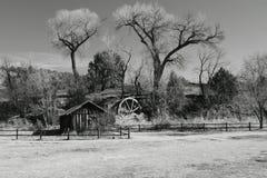 Cabañas viejas de la explotación minera imagen de archivo