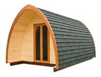Cabaña de madera aislada Imagen de archivo