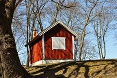 Cabaña roja Fotos de archivo libres de regalías