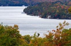 Cabañas en el lago Muskoka Imagen de archivo libre de regalías