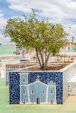 Cabaceiras ParaÃba, Brasilien - Februari, 2018: sikt för landskap för stadfyrkant royaltyfri bild