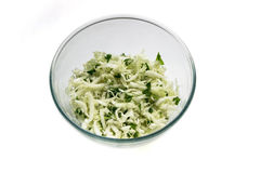 Cabage salad in a bowl isolated on a white background Stock Photography