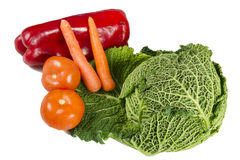 Cabagge, pomidory, marchewki i pieprz, Obraz Royalty Free