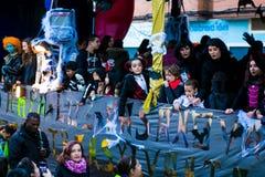 Cabalgata de雷耶斯Magos在马德里 免版税图库摄影
