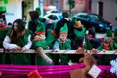 Cabalgata de Reyes Magos в Мадриде Стоковые Фото