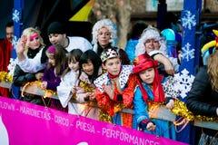 Cabalgata de Reyes Magos в Мадриде Стоковое Фото