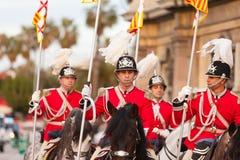Cabalgata de Reyes Magos a Barcellona Fotografia Stock Libera da Diritti