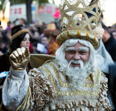 Cabalgata de Reyes Magos in Barcelona, Spain. Royalty Free Stock Images