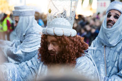 Cabalgata de Reyes Magos in Barcelona, Spain Royalty Free Stock Photo