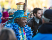 Cabalgata de Reyes Magos in Barcelona Royalty Free Stock Photography