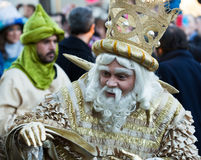 Cabalgata de Reyes Magos in Barcelona Stock Photography