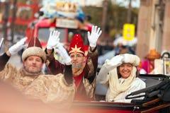 Cabalgata de Reyes Magos i Barcelona Fotografering för Bildbyråer