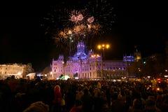 Cabalgata DE Reyes Magos in Madrid Stock Afbeeldingen
