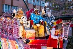 Cabalgata de Reyes Magos in Madrid. Royalty Free Stock Image