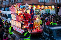 Cabalgata de Reyes Magos in Madrid. Stock Photo