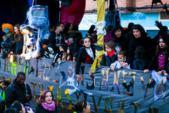 Cabalgata de Reyes Magos no Madri Fotografia de Stock Royalty Free