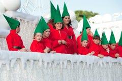 Cabalgata española de la Navidad Imagen de archivo libre de regalías